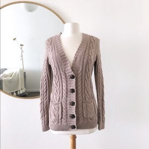 Old Navy Long Knit Cardigan Sweater Top Button Up